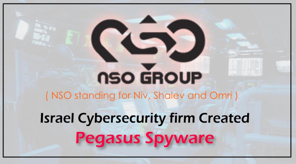 Israel NSO group who created Pegasus Spyware